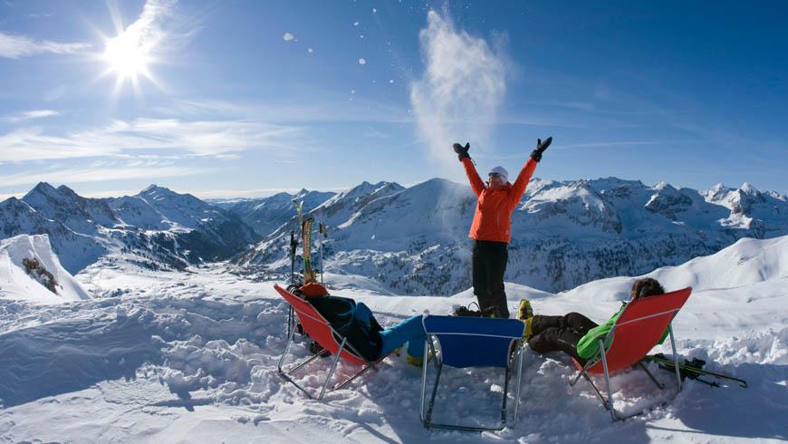 Ski fahren Obertauern